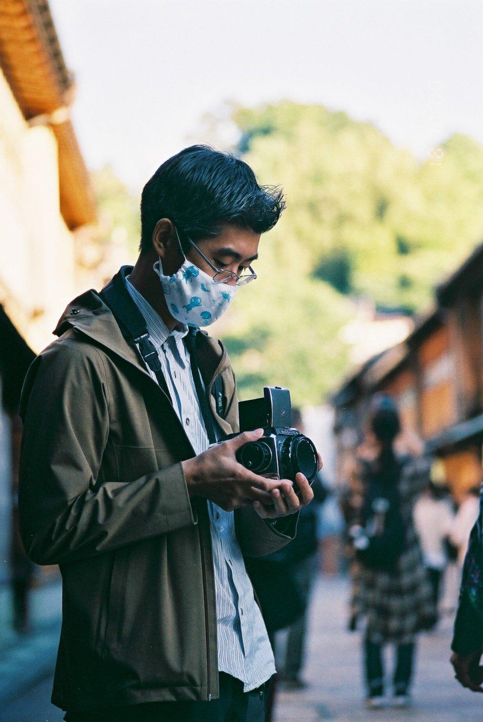 Carl Zeiss Sonnar T* 90mm F2.8 (G) 作例 薄明さんとひがし茶屋街にスナップ撮りに行った時の写真