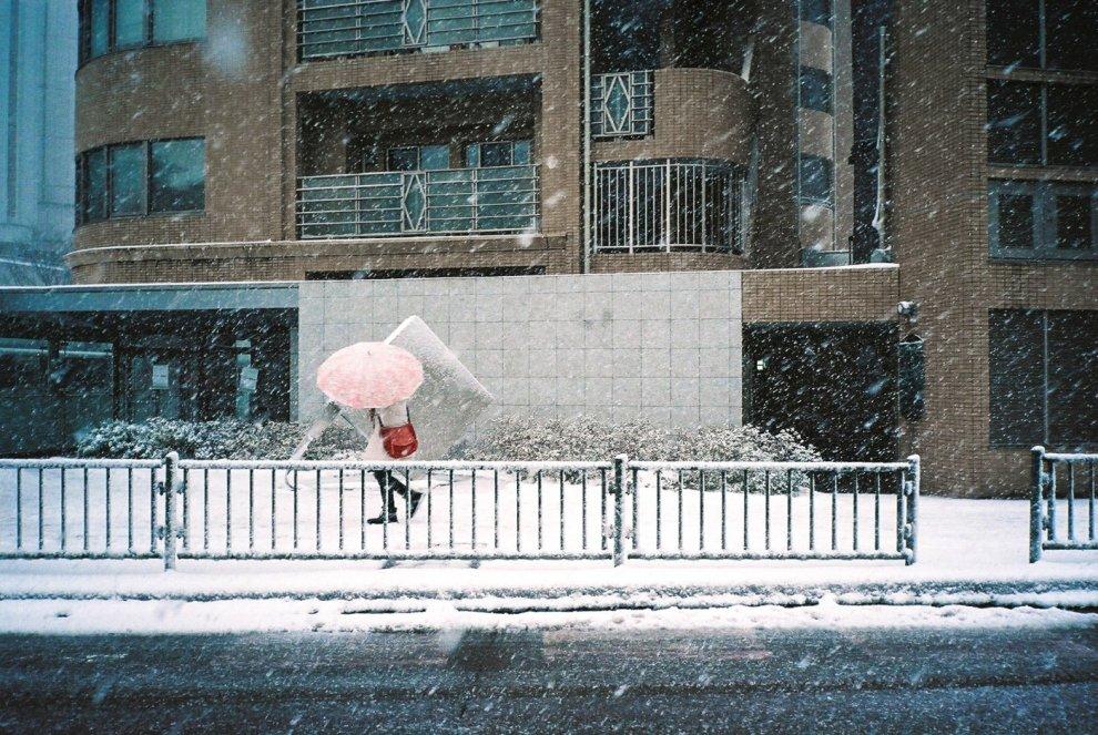 KONICA コニカ 現場監督28WB 雪の日に撮ったスナップ
